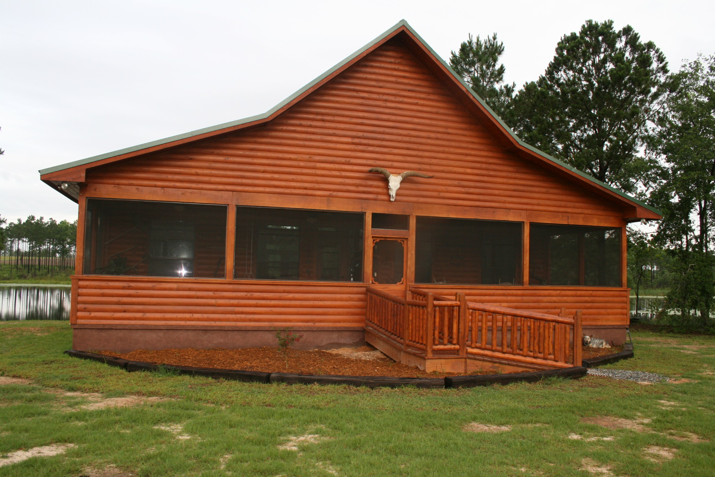 Flint River Log Homes can provide matching log siding for your new log ...