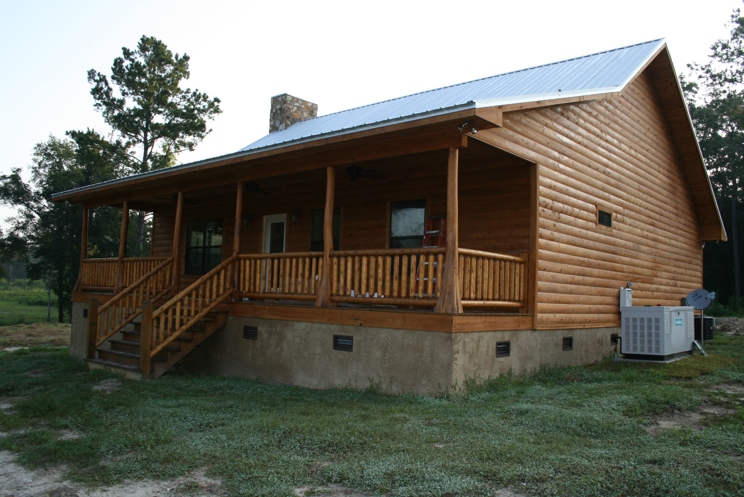 Flint River Log Homes Can Provide Decorative And Structural Logs Timber Frames Porch Posts For Your New Home These Are Hand Led Cypress Trees That
