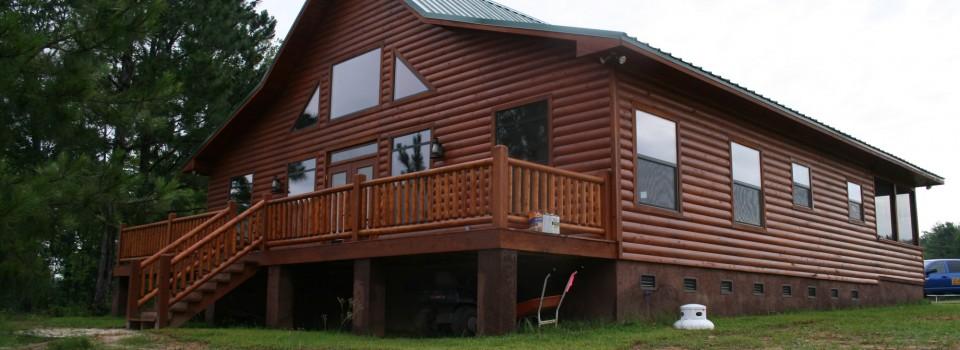 Western Flare Log Home